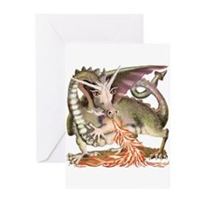 Fire Dragon Greeting Cards (Pk of 20)