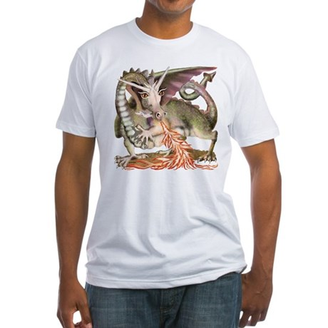 Fire Dragon Fitted T-Shirt