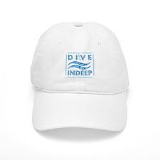Dive Indeep Blue Logo Baseball Cap