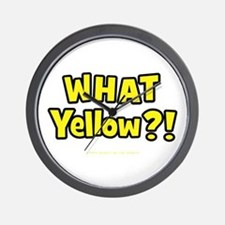 What Yellow?! Wall Clock