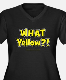 What Yellow?! Women's Plus Size V-Neck Dark T-Shir