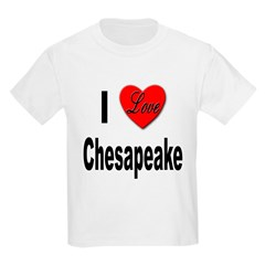 I Love Chesapeake (Front) T-Shirt