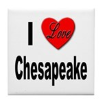 I Love Chesapeake Tile Coaster