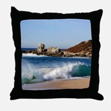Carmel River State Beach Throw Pillow