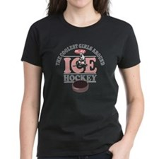 Coolest Girls Play Hockey Tee