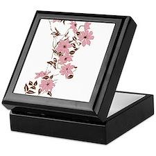 Pink Hawaiian Flowers Keepsake Box