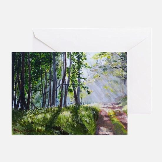 Green Lane #1 Greeting Card