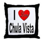 I Love Chula Vista Throw Pillow