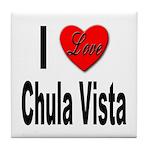 I Love Chula Vista Tile Coaster