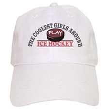 Coolest Girls Play Hockey Baseball Baseball Cap