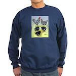 Plymouth Rock Rooster, Hen & Sweatshirt (dark)