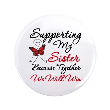 """Cancer Support Sister 3.5"""" Button"""