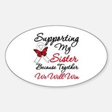 Cancer Support Sister Oval Decal