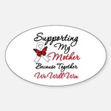 Cancer Support Mother Oval Decal