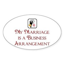 Marriage Oval Decal