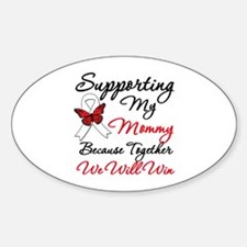 Cancer Support Mommy Oval Decal