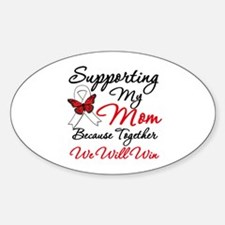 Cancer Support Mom Oval Decal