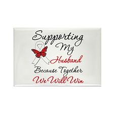 Cancer Support Husband Rectangle Magnet