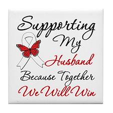 Cancer Support Husband Tile Coaster