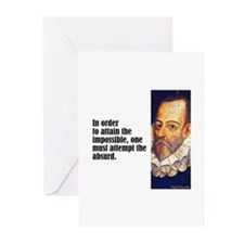 """Cervantes """"Absurd"""" Greeting Cards (Pk of 10)"""