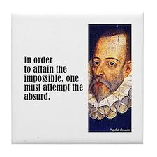"Cervantes ""Absurd"" Tile Coaster"