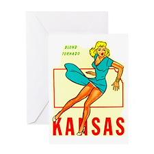 Vintage Kansas Pin-up Greeting Card