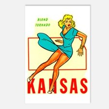 Vintage Kansas Pin-up Postcards (Package of 8)