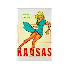Vintage Kansas Pin-up Rectangle Magnet (10 pack)