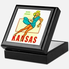 Vintage Kansas Pin-up Keepsake Box