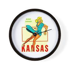 Vintage Kansas Pin-up Wall Clock