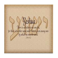 Yeshua Acts 4:12 (bg) Tile Coaster