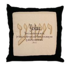 Yeshua Acts 4:12 (bg) Throw Pillow