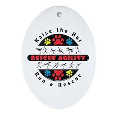Rescue Agility - Raise Oval Ornament