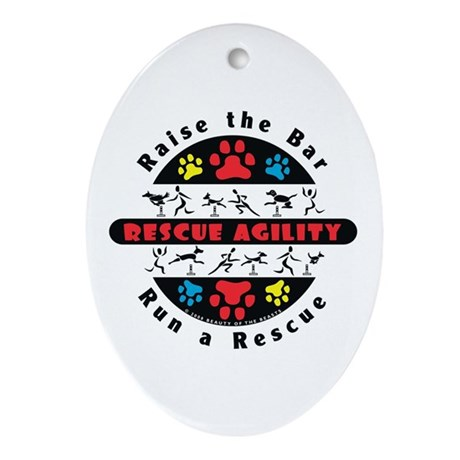 Rescue Agility - Raise Oval Ornament