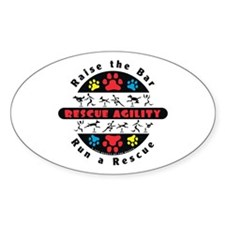 Rescue Agility - Raise Oval Decal