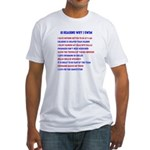 Ten reasons to swim - Male Fitted T-Shirt