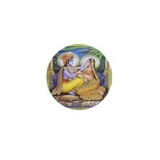 Krishna and Radha Mini Buttons (10 pack)