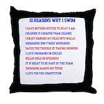 Ten reasons to swim - Male Throw Pillow