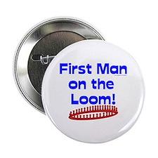 "Loom Knitting Man 2.25"" Button"