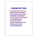 Ten reasons to swim - Male Small Poster
