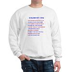 Ten reasons to swim - Male Sweatshirt