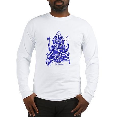 Jai Ganesh (Blue) Long Sleeve T-Shirt