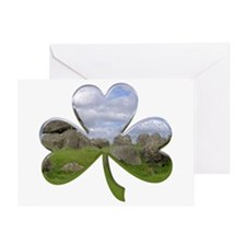 Irish Shamrock Metallic Greeting Card
