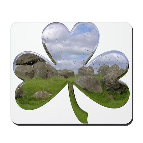 Irish Shamrock Metallic Mousepad