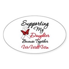 Cancer Support Daughter Oval Decal