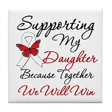 Cancer Support Daughter Tile Coaster