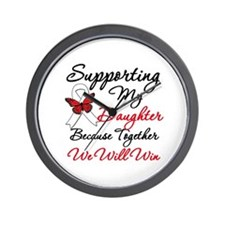 Cancer Support Daughter Wall Clock