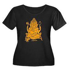 Jai Ganesh (Orange) Women's Plus Size Dark T-Shirt