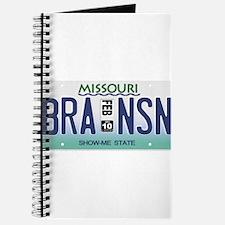 Branson License Plate Journal