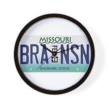 Branson License Plate Wall Clock